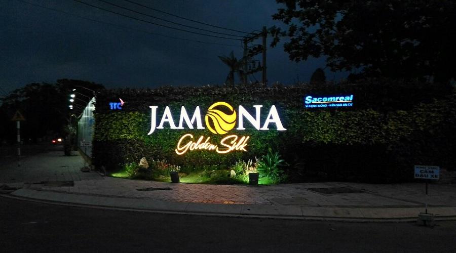 Lối vào dự án Jamona Golden Silk về đêm